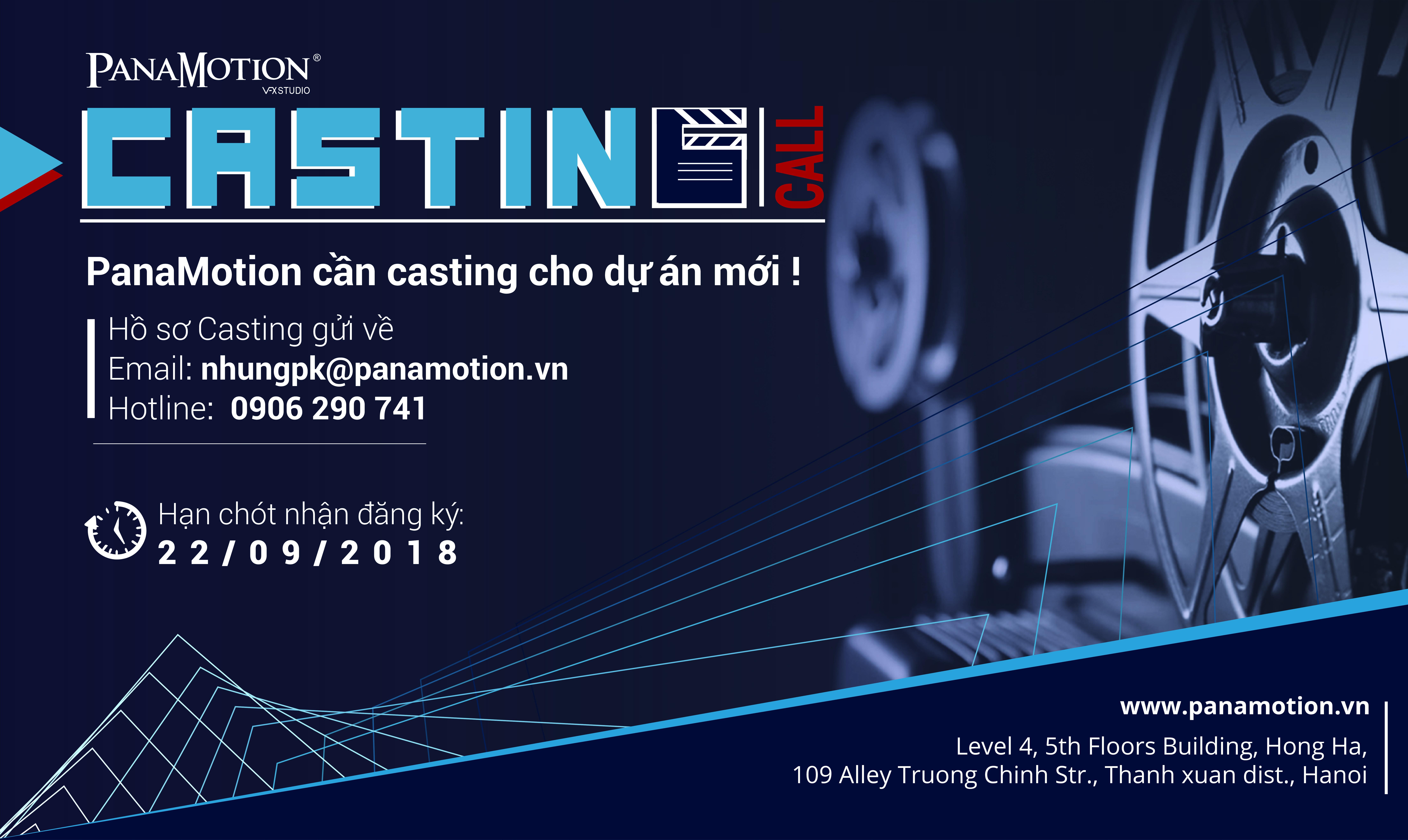 Casting call PanaMotion 2018