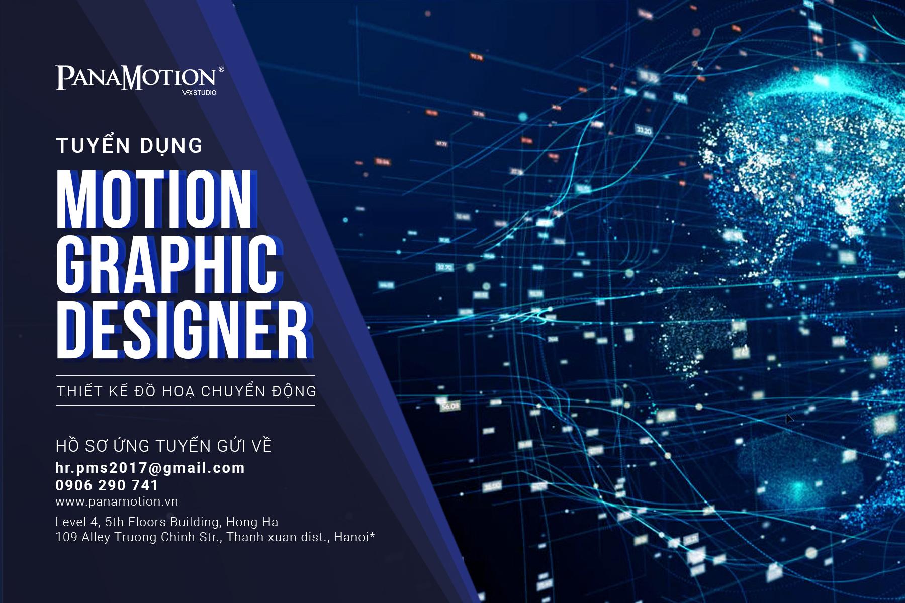 PanaMotion Tuyển Dụng MoGraph Designer